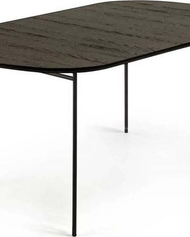 Černý rozkládací jídelní stůl La Forma Norfort, 140 x 90 cm
