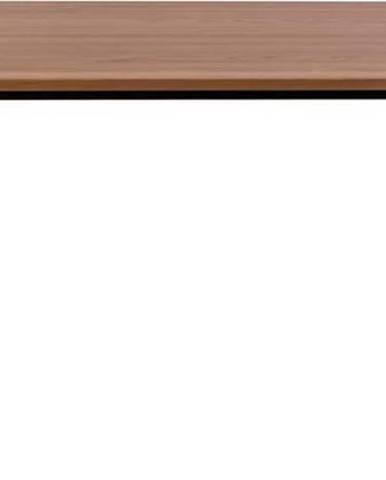 Jídelní stůl z jasanového dřeva s černými nohami Ragaba Contrast, 180 x 90 cm