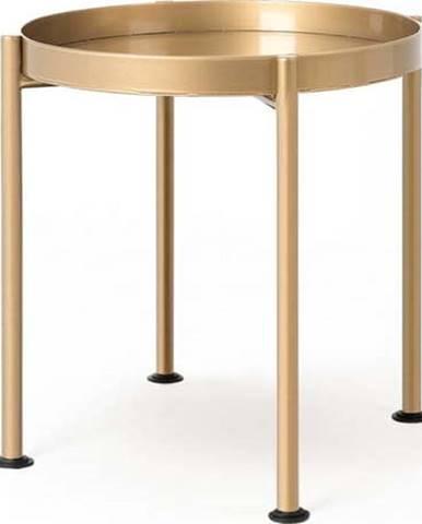 Konferenční stolek ve zlaté barvě Custom Form Hanna, ø 40 cm