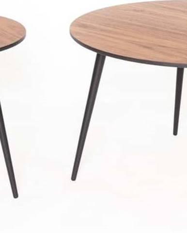 Sada 2 konferenčních stolků s černými nohami Ragaba Pawi Round