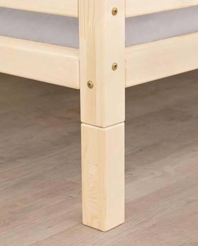 Sada 4 prodloužených nohou z nelakovaného dřeva k posteli Benlemi,výška20cm
