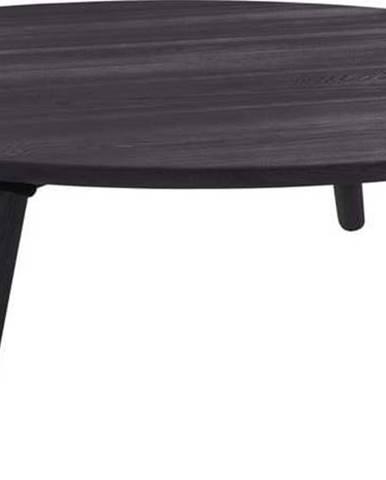 Šedý konferenční stolek z jasanového dřeva Ragaba Contrast Slice, ⌀ 100 cm