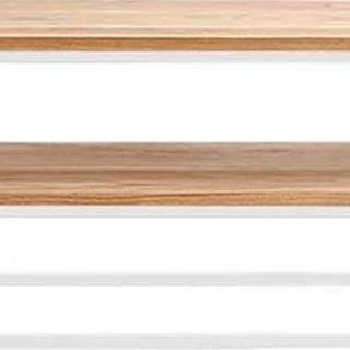 Konzolový stolek z dubového dřeva Custom Form Julita, výška 50 cm