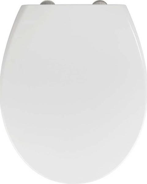 WENKO Bílé WC sedátko z duroplastu se snadným zavíráním Wenko Delos