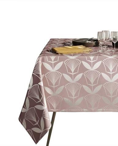 Pudrově růžový ubrus AmeliaHome Floris,140x180cm