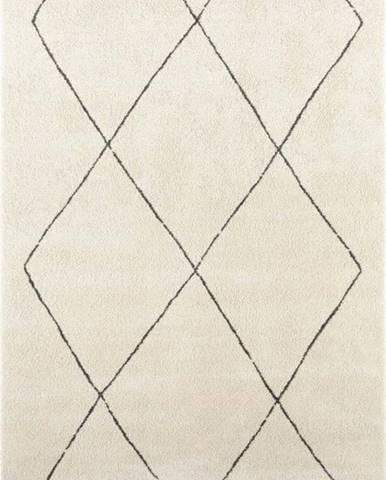 Krémový koberec Elle Decoration Glow Massy, 120 x 170 cm