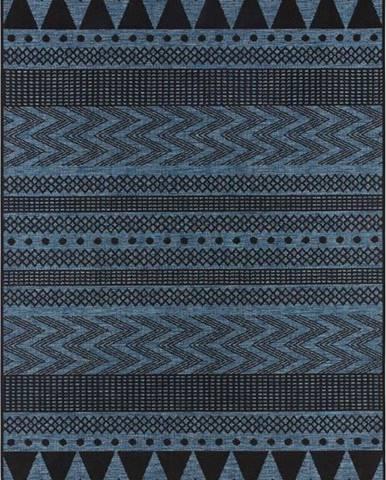 Tmavě modrý venkovní koberec Bougari Sidon, 70 x 140 cm