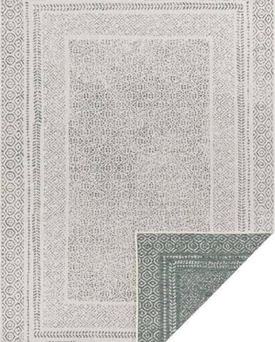Zeleno-bílý venkovní koberec Ragami Berlin, 80 x 150 cm