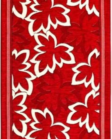 Červený běhoun Floorita Maple, 55 x 140 cm