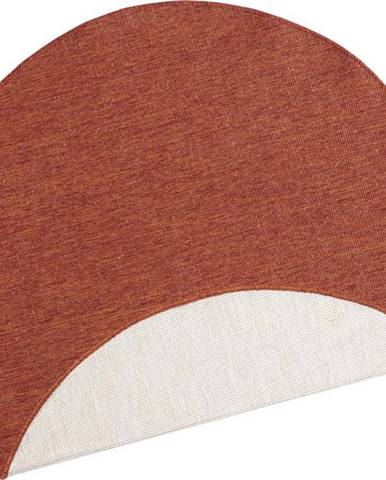Cihlově červený venkovní koberec Bougari Miami, ø 200 cm