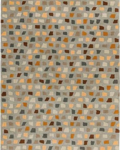 Koberec Asiatic Carpets Pixel Grey Multi, 120 x 170 cm