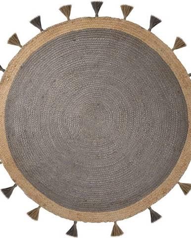 Šedý jutový koberec Flair Rugs Istanbul, ⌀ 150 cm