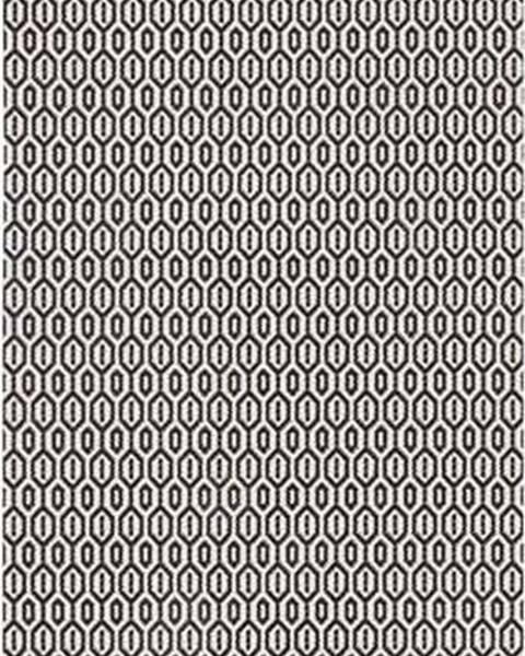 Bougari Černo-bílý venkovní koberec Bougari Coin, 80x200cm