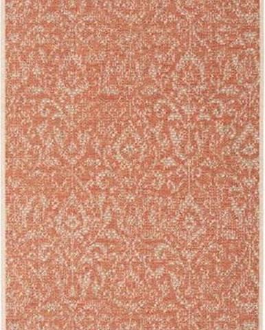 Oranžovo-béžový venkovní koberec Bougari Hatta, 70 x 200 cm