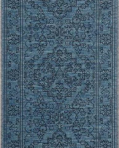 Tmavě modrý venkovní koberec Bougari Tyros, 70 x 200 cm