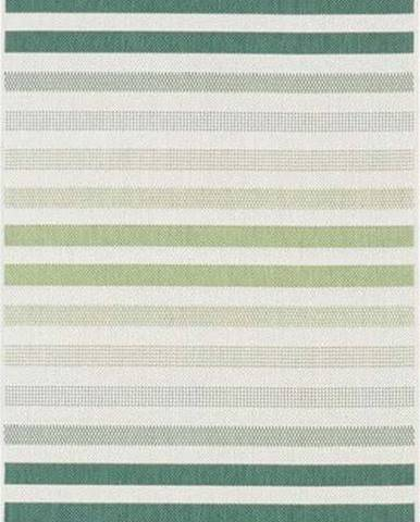Zeleno-šedý venkovní koberec Bougari Paros, 80 x 200 cm