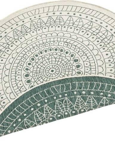 Zelený venkovní koberec Bougari Porto, ø 140 cm