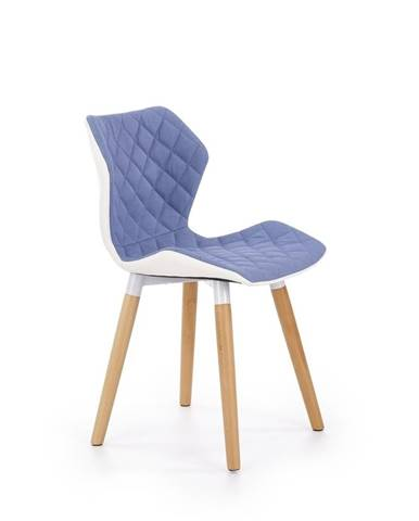 Halmar Jídelní židle K277, světle modrá/bílá