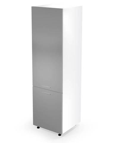 Dolní vysoká skříňka VENTO DL-60/214, dvířka: sv.šedý lesk