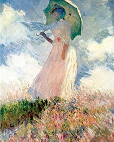 Reprodukce obrazu Claude Monet - Woman with Sunshade,70x45cm