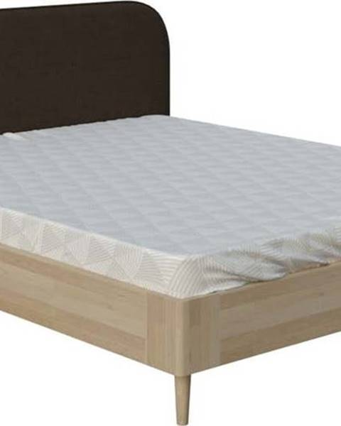 ProSpánek Hnědá dvoulůžková postel ProSpánek Arianna, 160 x 200 cm