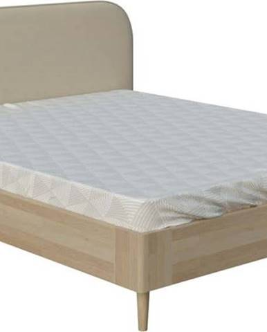 Béžová dvoulůžková postel ProSpánek Arianna, 140 x 200 cm