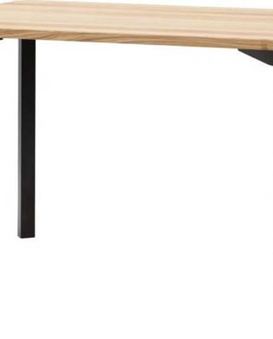 Černý jídelní stůl se zaoblenými nohami Ragaba TRIVENTI, 120 x 80cm