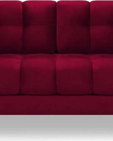 Červená sametová pohovka Cosmopolitan Design Bali