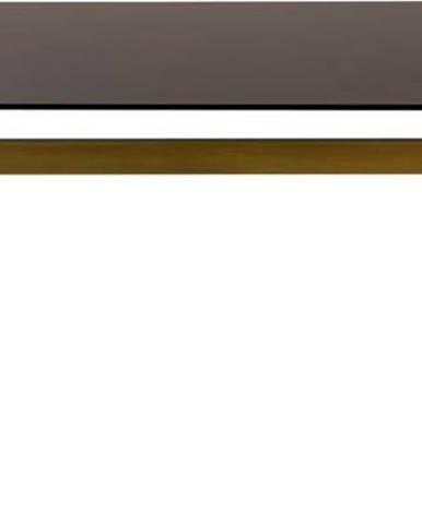 Jídelní stůl se skleněnou deskou Dutchbone Sansa,180x90 cm