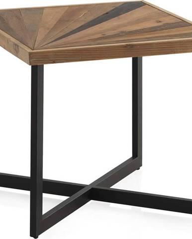 Konferenční stůl s černou železnou konstrukcí Geese Sunrays, 60 x 60 cm