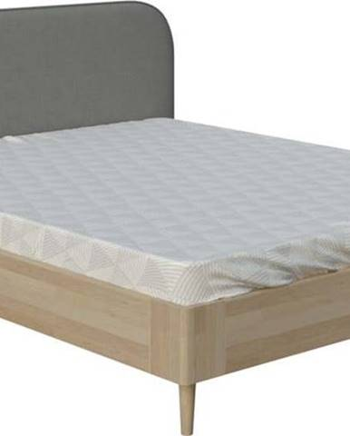 Šedá dvoulůžková postel ProSpánek Arianna, 180 x 200 cm