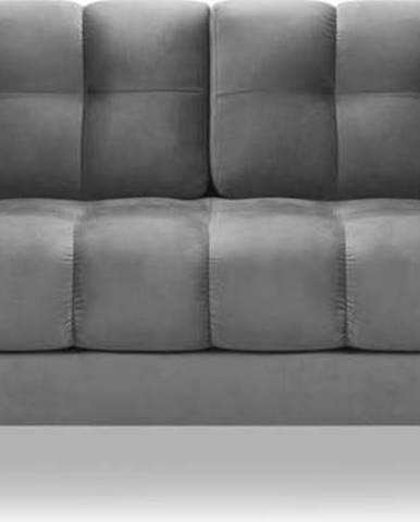 Tmavě šedá sametová pohovka Cosmopolitan Design Bali