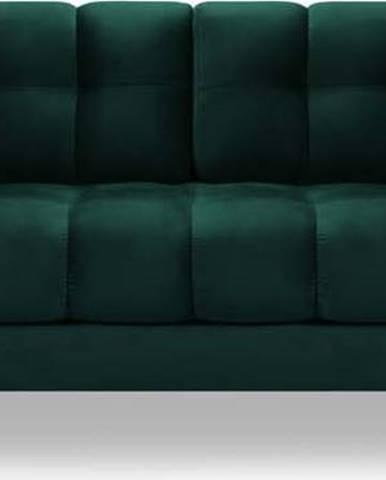 Tmavě zelená sametová pohovka Cosmopolitan Design Bali