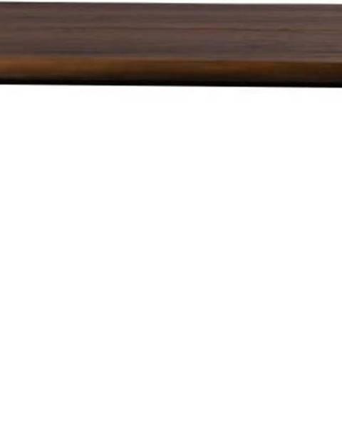 Dutchbone Jídelní stůl s černými ocelovými nohami Dutchbone Alagon Land, 160 x 90 cm
