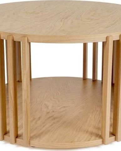 Konferenční stolek z dubového dřeva Woodman Drum, ø 83 cm
