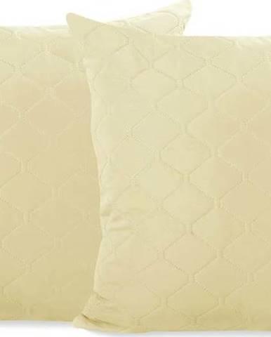 Sada 2 světle béžových povlaků na polštář z mikrovlákna DecoKing Axel, 40 x 40 cm