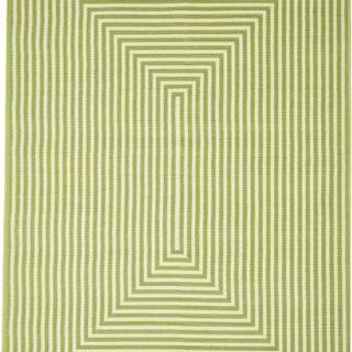 Zelený venkovní koberec Floorita Braid, 160 x 230 cm