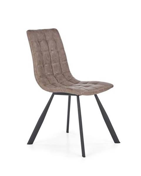 Halmar Halmar Jídelní židle K280, hnědá/eko kůže