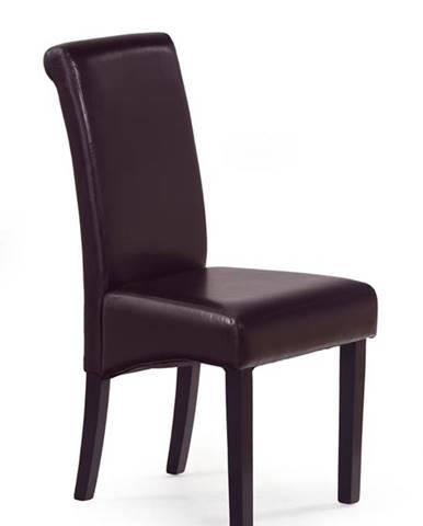 Halmar Jídelní židle NERO, tmavě hnědá