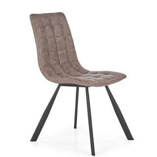 Halmar Jídelní židle K280, hnědá/eko kůže