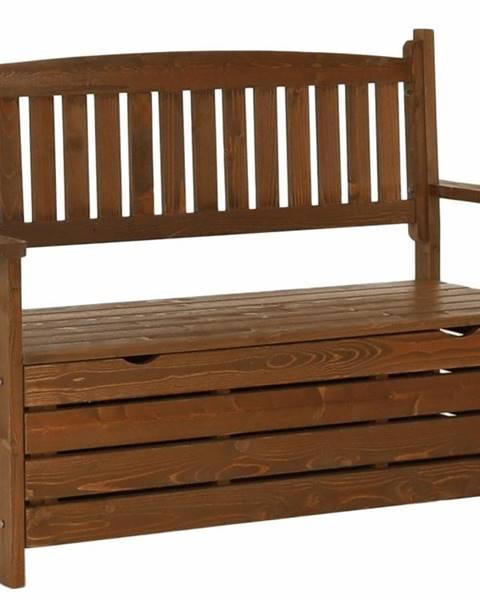 Smartshop Zahradní lavička, hnědá, 124cm, DILKA