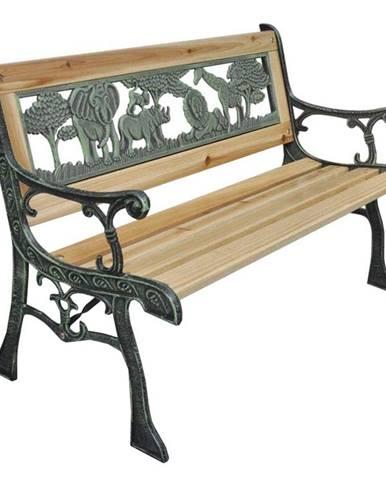 Dětská lavička, černá/přírodní, NADAZA