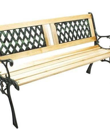 Zahradní lavička, černá přírodní, JADARA
