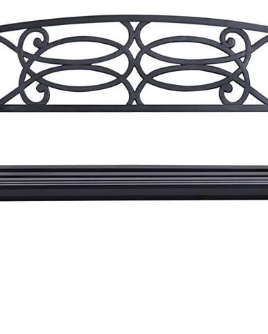 Zahradní lavička, černá, VENDA