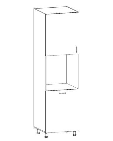 ROYAL, vysoká skříňka pro vestavbu D60P levá, borovice norská