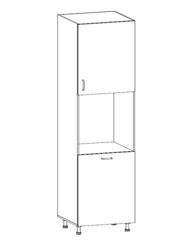 ROYAL, vysoká skříňka pro vestavbu D60P pravá, borovice norská