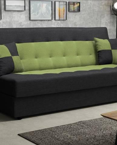 Pohovka POLO, černá/zelená