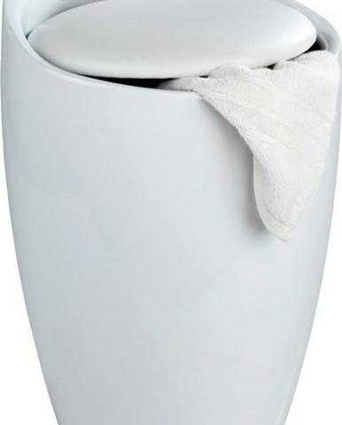 Bílý koš na prádlo a taburetka v jednom Wenko Candy, 20 l