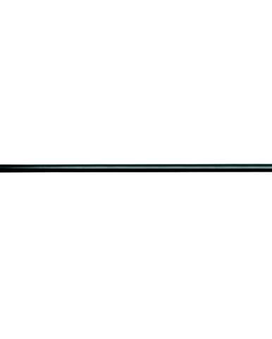 Černá tyč na sprchový závěs s nastavitelnou délkou InterDesign Cameo, délka109 - 190 cm