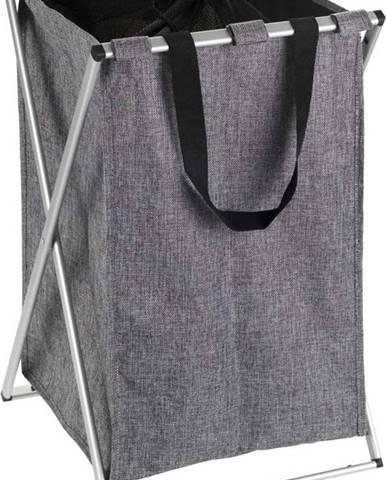 Šedý koš na prádlo Wenko Uno, 52 l